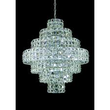 ce811141 11 ch crystal egyptian square lead crystal chandelier