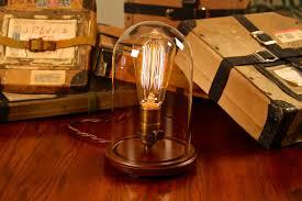 Bell jar lighting fixtures Hanging Edison Bell Jar Lamp Dan Cordero Edison Glass Bell Jar Lamp Desk Lamp Table Lamp