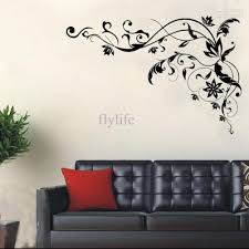 Wall Decor Stickers For Living Room Large Black Vine Art Wall Decals Diy Home Wall Decor Stickers For