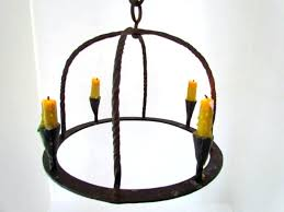 wrought iron real candle chandelier rustic small chandeliers black white furniture fresh orb