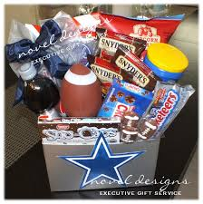 custom football snack gift basket cowboys football noveldesignsllc