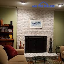 whitewash fireplace brick