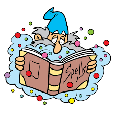 wizard with spell book stock vector ilration of silly 11790609