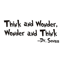 amaonm removable black vinyl es saying dr seuss think and wonder wall decals lettering art decor wall stickers murals for kids children boy girl