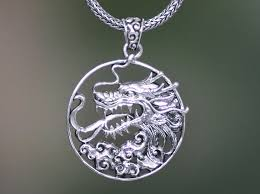 the victorious sterling silver dragon necklace meaningful necklaces for guys
