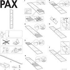 Ikea Instruction Manuals Ikea Accessories Pax Fevik Door 20x90 Pdf Assembly Instruction