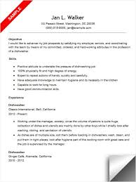 Dishwasher Resume Sample