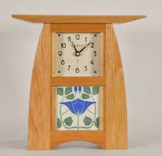 arts crafts tile clock in solid cherry with choice of motawi 4 x 4 tile on wall clock arts and crafts with mission and arts crafts collection schlabaugh sons