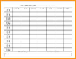 Printable Hourly Weekly Schedule Hourly Schedule Template Printable Weekly Calendar Planner 4 Day