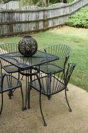 green wrought iron patio furniture. do you have a rod iron table or chair that is in rough shape donu0026 worry it can be fixed when we bought our house noticed patio set green wrought furniture u