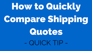 Shipping Quotes Cool How To Quickly Compare Shipping Quotes Passion Into Paychecks