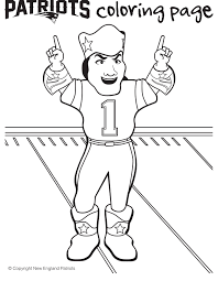 football coloring pages for kids printable fresh patriot of on patriots
