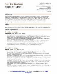 Writing a great front end developer resume is an important step in your job search journey. Front End Developer Resume Samples Qwikresume