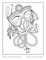 Small Picture Mardi Gras Coloring Page Mardi gras Worksheets and Holidays