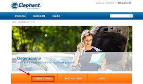 elephant auto insurance claim step 2