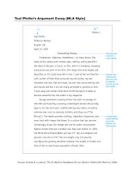 011 Mla Example Essay Style Format 477400 Thatsnotus