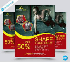 Fitness Flyer Psd Download - Psd Free Download