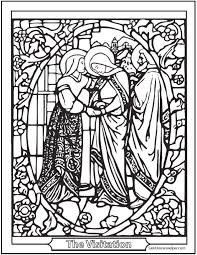 Small Picture Stained Glass Coloring Page