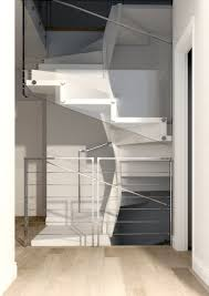 ... Helical staircase / wooden steps / with risers / contemporary  TENDRILLAR Q-GLE-JRV1