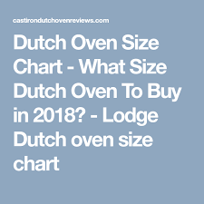 Dutch Oven Size Chart What Size Dutch Oven To Buy Lodge