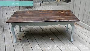 how to refinish a coffee table rustic before after oversized rustic coffee table redo al on