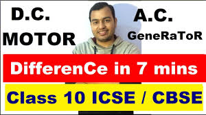 difference between ac generator and dc motor dc motor ac generator cl 10 cbse icse