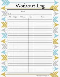 workout sheets blank workout sheet sticking to my fitness goals best workout log
