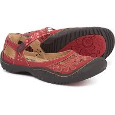 jbu by jambu wildflower mary jane shoes vegan leather for women in red