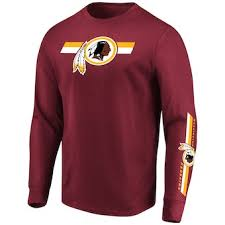 Majestic Tall Heathered Redskins Washington T-shirt Long amp; Sleeve Big Men's Kick Charcoal Return