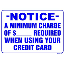 Minimum Credit Card Payment Amazon Com Notice A Minimum Charge Of ___ Required When