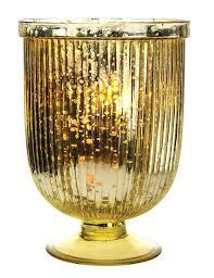 gold glass candle holders large gold mercury glass fluted hurricane candle holder bazaar mercury glass hurricane