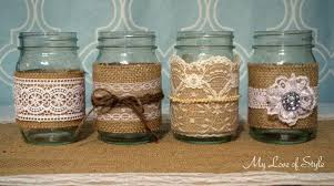 Here are a few of the additional styles of Burlap & Lace Mason Jars I've  Made