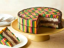 italian rainbow cookie ice cream cake
