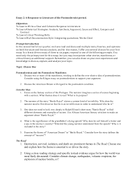 essay master essay 2 a response to literature of the postmodernist
