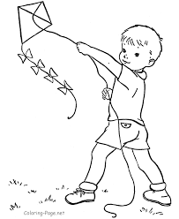Small Picture Kite Flying Coloring Pages Coloring Home
