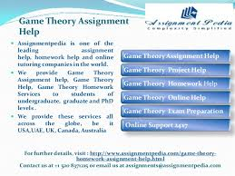 game theory java assignment help game theory assignment help for further details