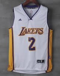 Men Lonzo Swingman Throwback Ball Lakers Angeles Jersey Los White 2