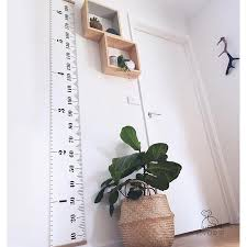 Us 9 49 50 Off 200 20cm Wooden Wall Hanging Baby Child Kids Growth Chart Height Measure Ruler Wall Sticker For Kids Children Room Home Decor In Wall