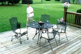 wrought iron patio table round tables rectangular