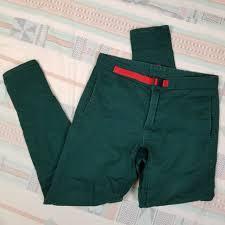 Topo Designs Denver Co Topo Designs Climb Pant In Dark Forest Green Red Depop