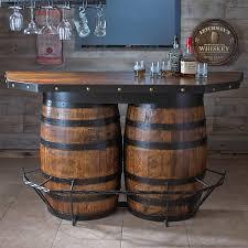 furniture tennessee whiskey barrel bar preparing zoom
