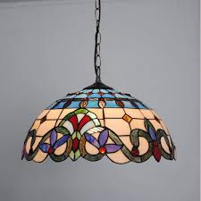 Tiffany Dining Room Lights Tiffany Style Stained Glass Pendant Light 16 Inch Baroque