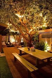 outdoor table lighting ideas. 10 Outdoor Lighting Ideas For A Shabby Chic Garden #6 Is Lovely - Wood- Table L