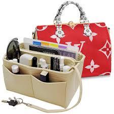 Purse Organizer Insert Felt Bag Organizer Handbag Organizer Insert With Zipper For Tote Lv Speedy Neverfull Longchamp