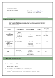 Model resume. K.xxxxxxxxxxxxxxx B.E. METALLURGY ...