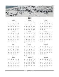 Calendario In Pdf Del 2020