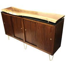 custom tv stands. Custom Tv Stand Vintage Mid Century Modern Live Edge Walnut Slab Top Credenza For Stands