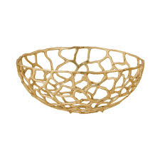 Gold Decorative Bowl Free Form Large Decorative Bowl In Gold Tn 891890 The Home Depot