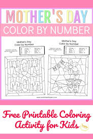 All the coloring pages are designed specifically for adults with beautiful intricate designs that will make you. Mother S Day Color By Number Free Printable Coloring Pages