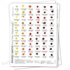 Molotow One4all Color Chart Daniel Smith 001900482 Watercolor 238 Dot Color Chart Arts